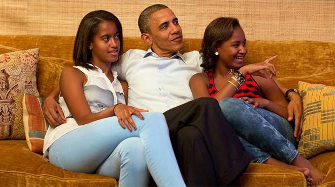 Обама и дочери