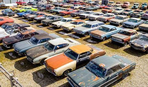 Старые авто участок Канада