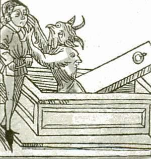 На этой немецкой гравюре 15-го века показывается восстание нежити после смерти.