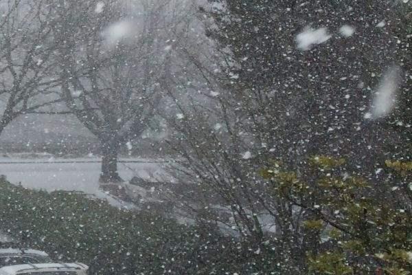 Омск снег
