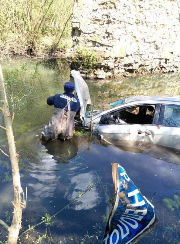 Утонуло авто