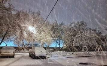 снегопад Красноярск 3 мая