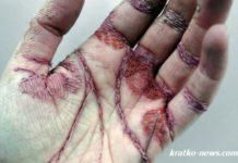 Вышивка на руках