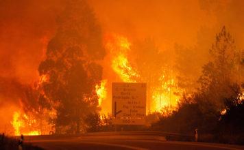 Португалия пожар