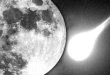 Луна и метеорит