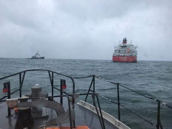 Па-де-Кале столкнулись 2 судна