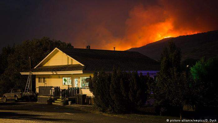 Пожар Британская Колумбия