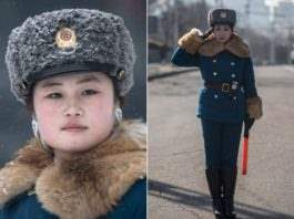 Регулировщицы движения в Северной Корее