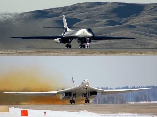 Ту-160 против B-1B