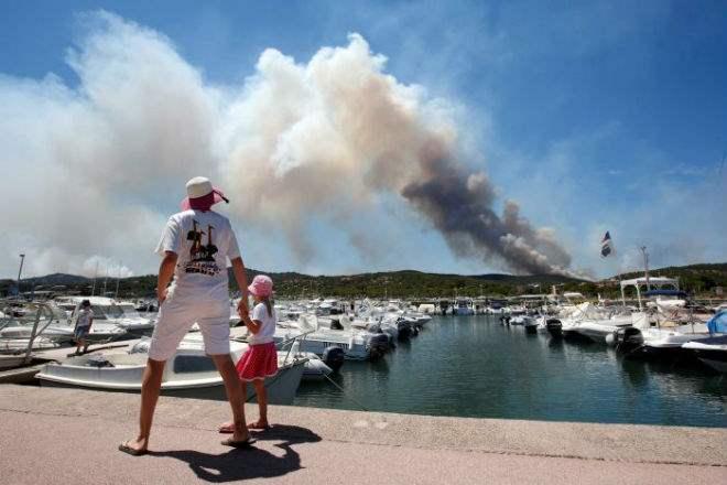 Франция лесные пожары
