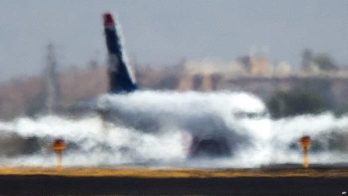 самолет жара