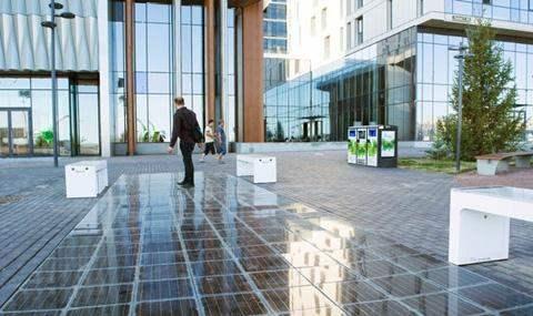 солнечные батареи тротуар