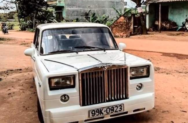 ВАЗ-2107 в Rolls-Royce Phantom