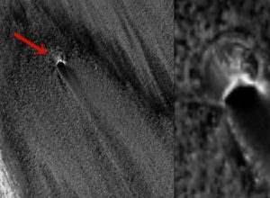 На Марсе обнаружено необычное пятно