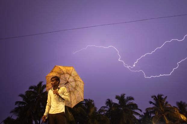 Молния в Индии