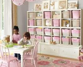 Стеллажи в детской комнате