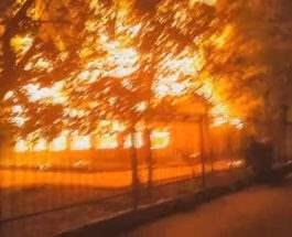Одесса лагерь пожар