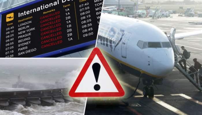 Сильные ветры отменены рейсы