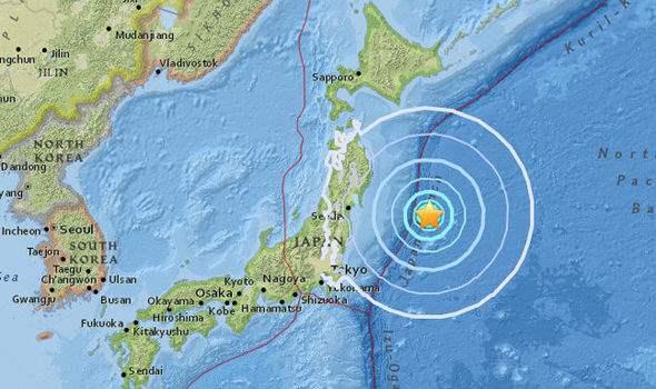 Япония землетрясение