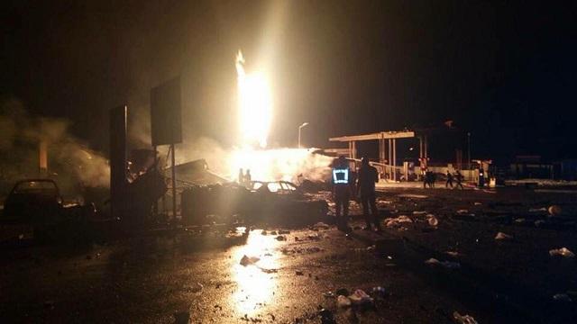 Гана взрыв заправки