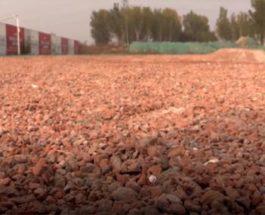 Китай дорога мусор