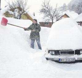 Сербия снег
