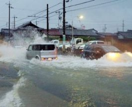 тайфун япония