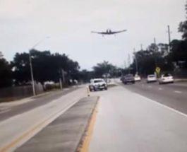 Легкомоторный самолет приземлился на шоссе во Флориде