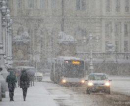 Бельгия снег