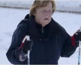 меркель лыжи