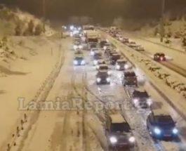 снег греция