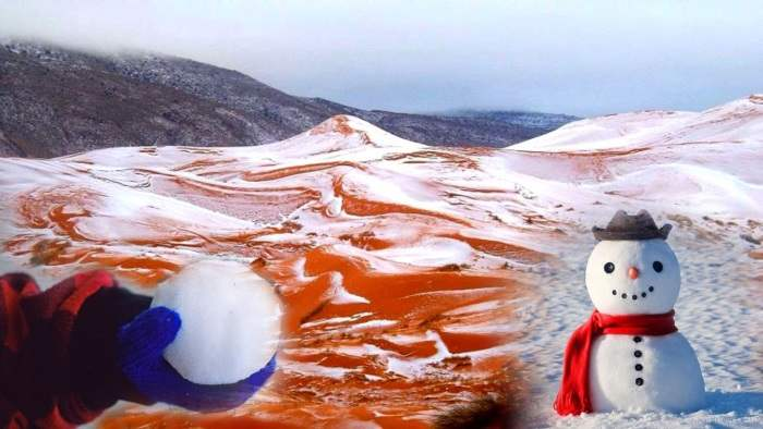 Сахара снег