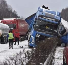 Чехия снег аварии