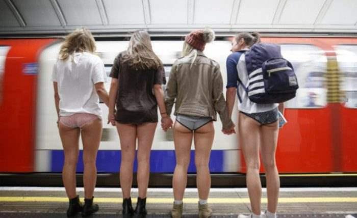 «Без штанов в метро»,акция,метро,в трусах,сняли штаны