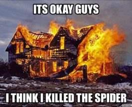 поджог дом