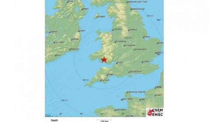 Землетрясение Великобритания