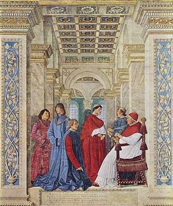 Первый библиотекарь Ватиканской библиотеки 1475 г.