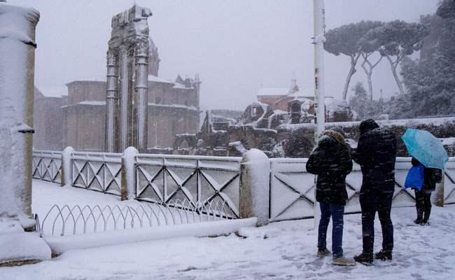 Польша снег
