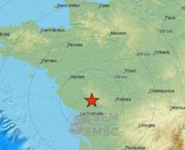 Франция землетрясение