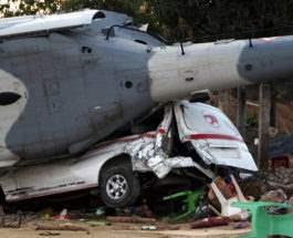 мексика вертолет упал