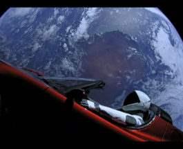 тесла в Космосе