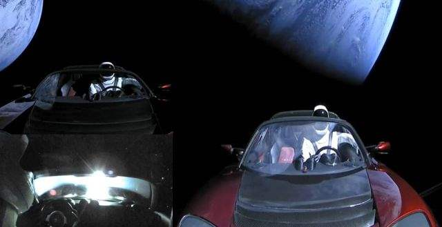 Тесла в космосе НЛО