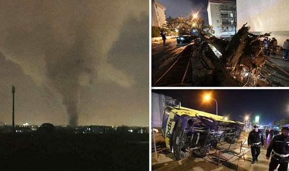 Италия торнадо