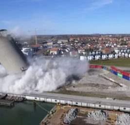 Взрыв башни в Дании