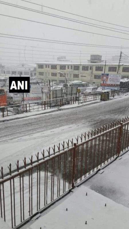 Индия снег