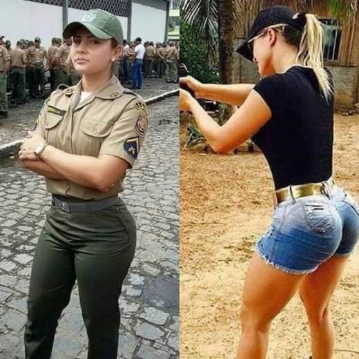 Девушки в армейской одежде, жесткое групповое порно в лесу