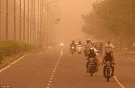 Индия пыльная буря