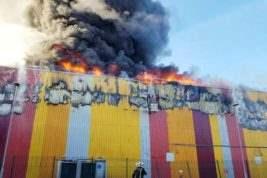 Лондон Пожар склад