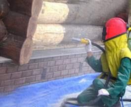 Пескоструйная обработка кирпича и бетона