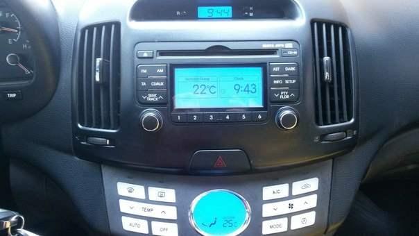 Штатная магнитола от Hyundai I30